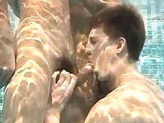 Some boys activity cocksucking underneath water