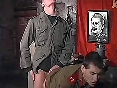 Young Soviet policeman fuck and goo