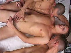 Naughty beauties of vivacious age engaging jocks in chop