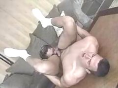 Horny homosexual guys have fucking