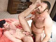 Manly shaggy buds Brad & Billy rub & grind their fur collectively