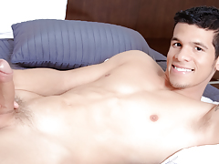 Lee disrobes & teases you, shows off his hard abs & thick cock