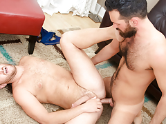 Rich's vivacious pecker gets some of Lucas' tight unshaved apple bottoms