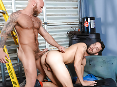Cruel pig fuckers Drake & Isaac explore gritty fetish love making act