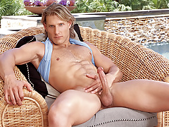 Anthony enjoys playing with his wazoo and 10-Pounder in solo scene!