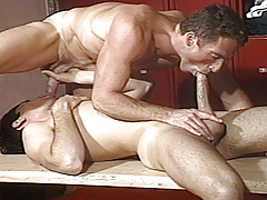 Scott falls his vast weenie up Dean's arse pumping him hard !