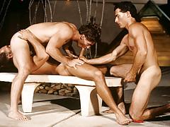 Resort guest Alex Kincaid takes a three-way sex crack slit !