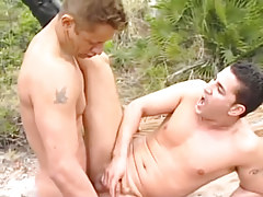 Appealing lovers lick dicks on the coast in 4 motion picture