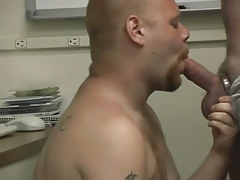 Pooch gets dirty in the office with a moist man in 2 motion picture