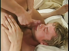 Bawdy examination leads to homosexual Male+Male+Female in 7 clip