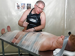Taped Down Homosexual Drained Of Cock cream - Alex Silvers And Sebatian Kane