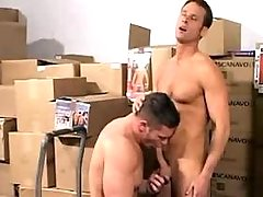 Young and sexually intrigued loaders very severe in storehouse
