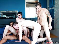 Orgy w Tyler, Ryan, Skyler, & Kaden
