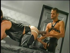 Leather  studs having gay sex in 3 episode