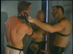 Gay chamber sex scene with leather in 1 movie scene