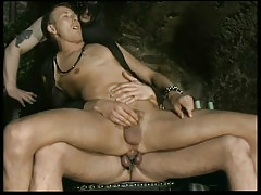 Infatuation leather gay guys in play box in 2 episode