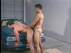 Gay muscle studs have clammy anal in garage in 5 episode