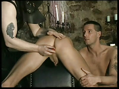 Fetish leather faggots in dungeon in 1 episode