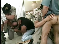 Hot homosexual policemen uniform porn massive fuckfest in 6 movie