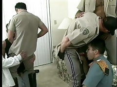 Sweaty homo policemen uniform porn intense orgy in 7 video