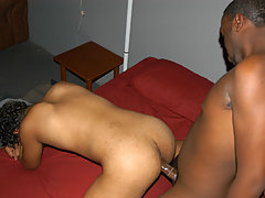 college ebony gays participate anal sex on the party