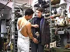 Young str8 mechanics trying man-lover sex principal time