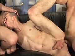 Gay takes his principal huge cock
