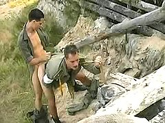 Military twinks fuck n ball batter outdoors