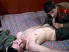 Army boy seduces and copulates friend