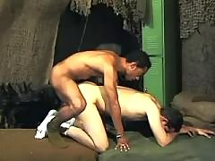 Wild swarthy homo gets stuffed heavily