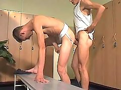 College fruit boyish sub has intercourse twink in checkroom
