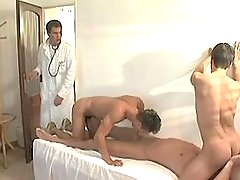 Cute twinks greedily suck huge schlong of doctor