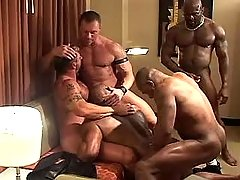 Five placid twinks blow prides and fuck in group sex