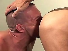 Gay dude sub sucks mature cocks by crooks