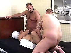 Chubby bear man-lovers blow and fuck constricted holes