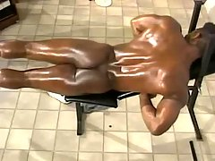Black gay taking fine anal reaming