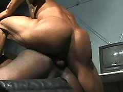 Black gay guy swells for mammoth stick