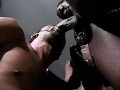 Tight black arse gets plugged rough