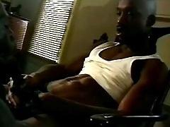 Black schlong penetrates tense butt
