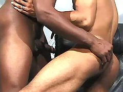 Black guy getting nastily pounded