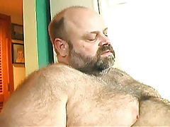 Bear calm gay guy enjoys orall-service sex