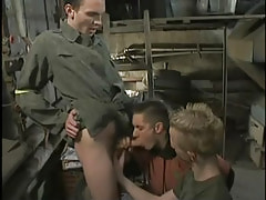 Two twink fellows suck big 10-Pounder by turns