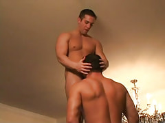 Gay hunk sucks hard pecker