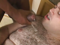 Lusty hairy fellow obtains damp cumload