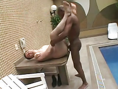 Poor guy screwed by swarthy gay guy on table