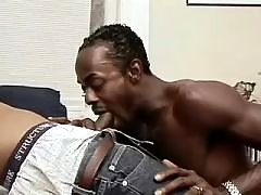 Wild black faggot obtains stuffed heavily