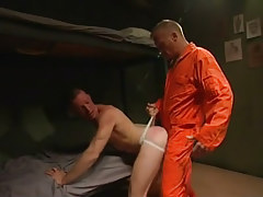 Horny prisoner digs amateur guy