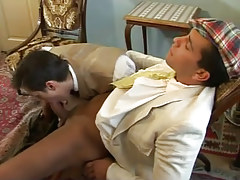 Gay gentleman sucked by boyfriend