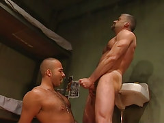 Mature gay cums on shaggy dude