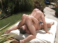 Nasty muscle faggots suck in 69 pose outdoor